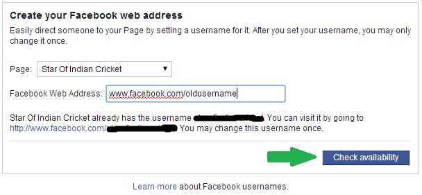Trick to Change Facebook Username