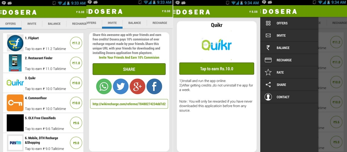 Best Free Mobile Recharge Android Apps - Dosera
