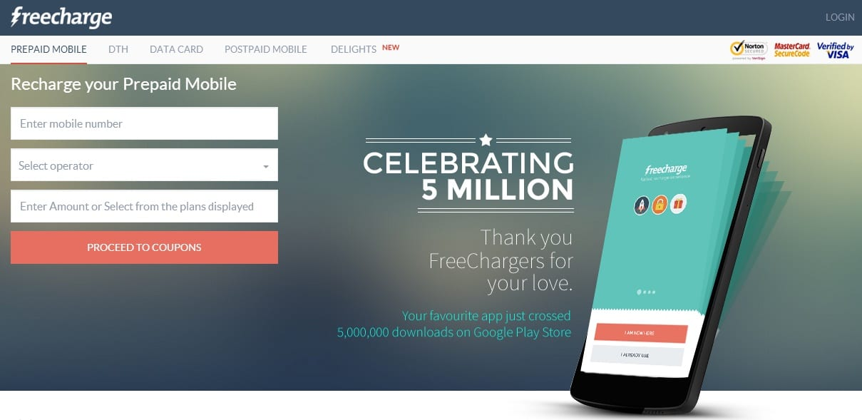 Get Promo Codes for Mobile Recharges on Freecharge