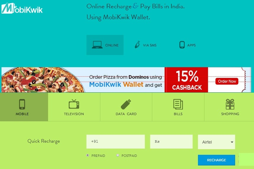 Mobikwik - Get Discounts and Promo Codes for Mobile Recharges