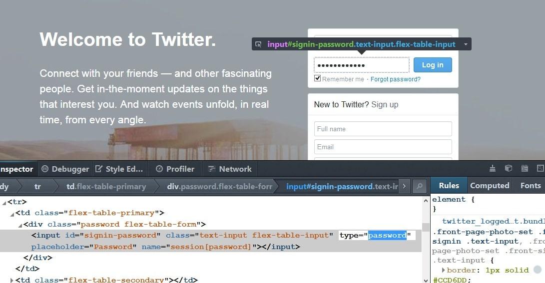 Reveal Password Hidden Behind Asterisks in Mozilla Firefox