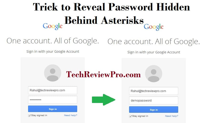 Trick to Reveal Hidden Password Behind Asterisks in Web Browsers Google Chrome & Mozilla Firefox