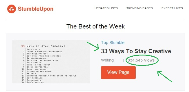 Tips to Use StumbleUpon to Get Million of Visitors to Your Site