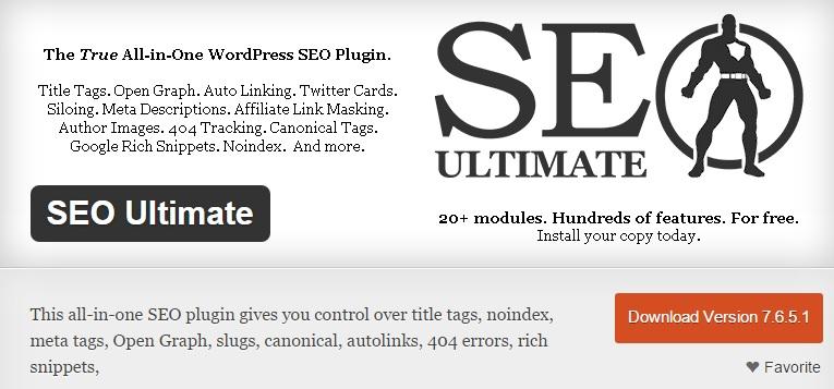 SEO Ultimate - True All-in-one SEO plugin for WordPress