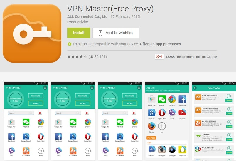 VPN Master - Free Proxy Android VPN App