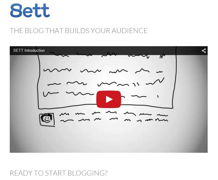 Sett - Free Blog Site that Builds You Audience