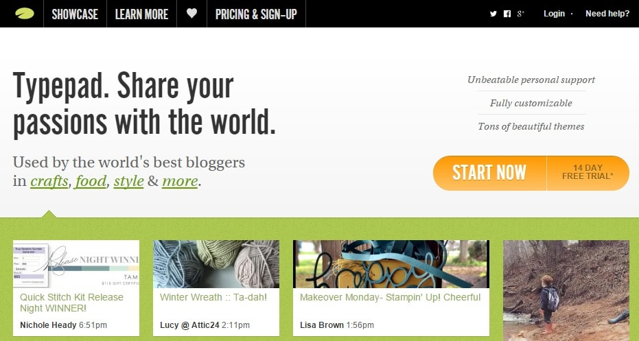 Typepad - Top Blog Site to Share Your Passion With The World