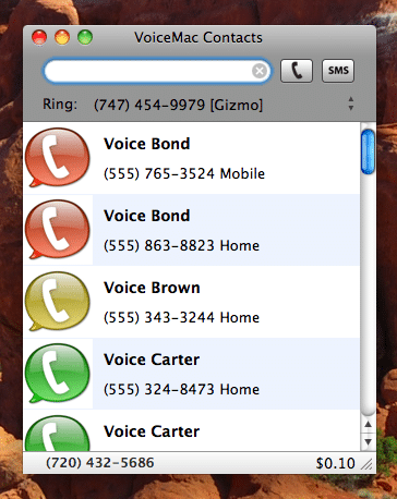 VoiceMac - Top Google Voice Desktop Client App for Mac