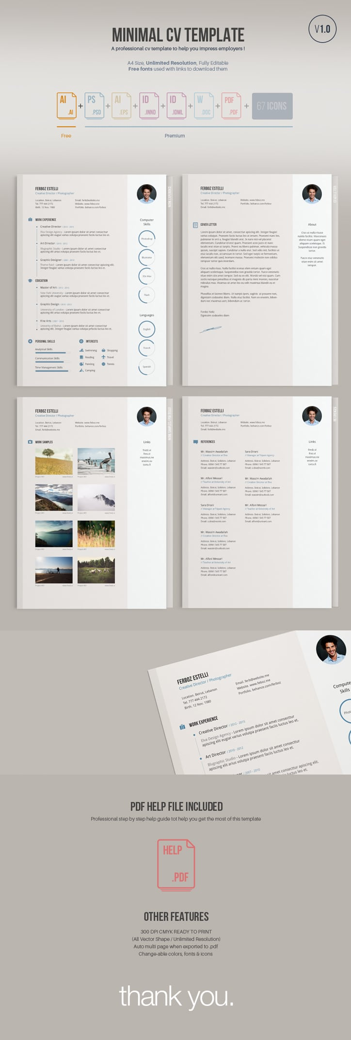 55 amazing graphic design resume templates to win jobs. Black Bedroom Furniture Sets. Home Design Ideas