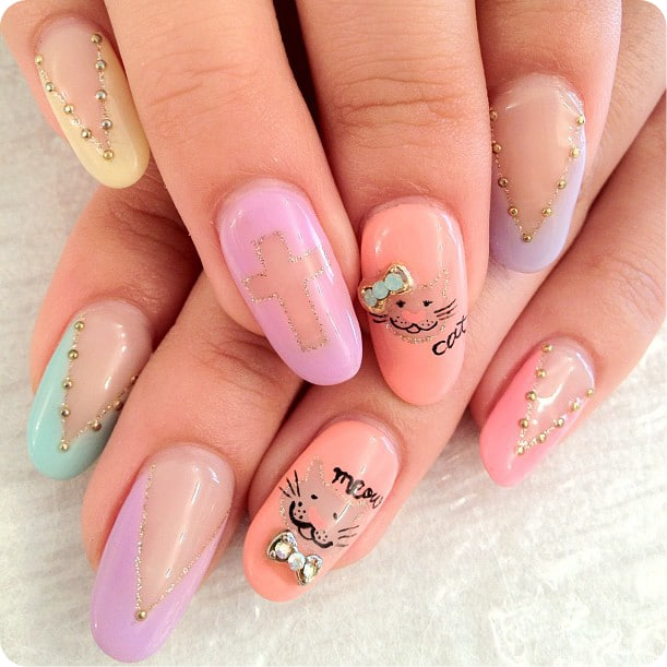 15 Cool Nail Art Designs: 110+ Cute Nail Design Ideas For Creative Nail Art Designers
