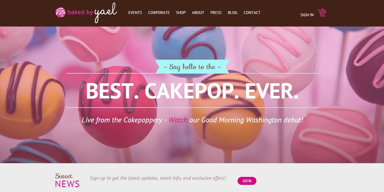 43 best bakery website design ideas for cakes websites for Home page design ideas