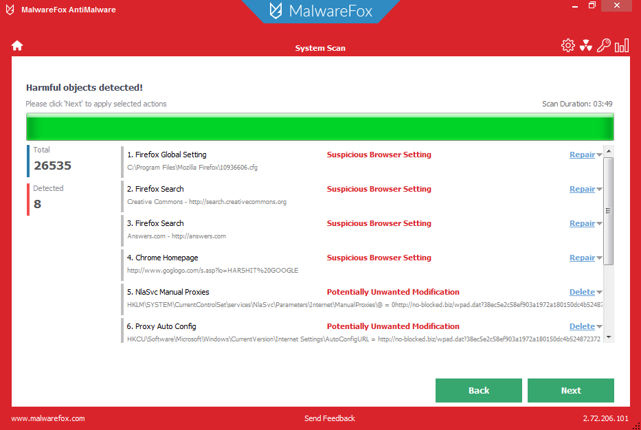 MalwareFox - Best Adware and Malware Removal Tool for Windows