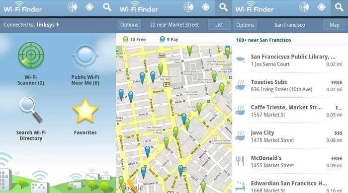 wifi-finder- Find WiFi hotspots any where - Best Free Holiday Apps to Take with You on Your Holidays