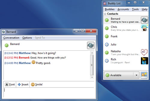 Pidgin- Best open-source instant messaging program client for Windows PC
