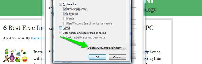 Disable-Autofill-in-Browser-Delete-history - How to Clear Autofill: How to Delete Autofill in Chrome & other Browsers?