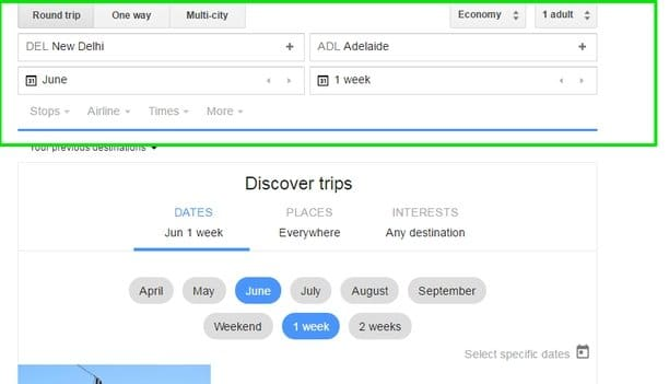 Google-Flights-Enter-Details - Google Flights Search Tricks - Check Google Flights Status - 6 Google Flights Status Checking Tips to Become a Google Flights Guru