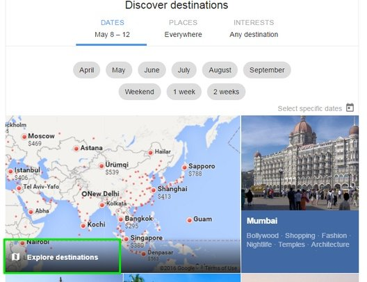 Google-Flights-Explore-destinations - Google Flights Search Tricks - Check Google Flights Status - 6 Google Flights Status Checking Tips to Become a Google Flights Guru