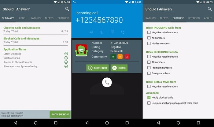 Should I Answer- Rate calls received - Best Call Blocker Apps for Android - Free Call Blocking Apps