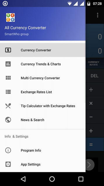All currency converter app for Android - free currency converter app for Android - best currency exchange app - money converter app