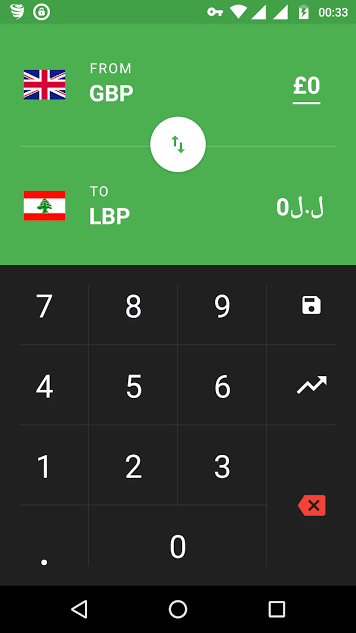 flip currency converter - material design currency converter app for Android - currency exchange app - free currency converter app