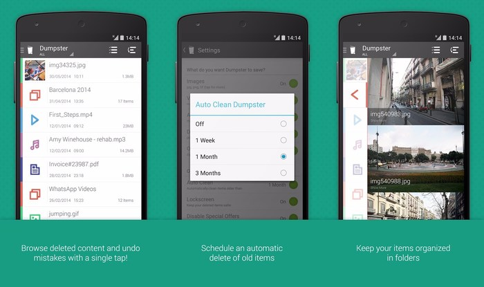 Dumpster-Recycle-bin-for Android - Best Free Android Recycle Bin Apps to Recover Deleted Important Data