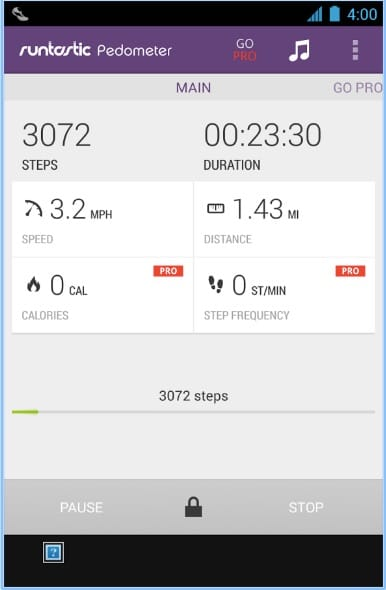 Runtastic Pedometer Step Counter Android App - Best Pedometer Apps for Android - Free Android Pedometer App