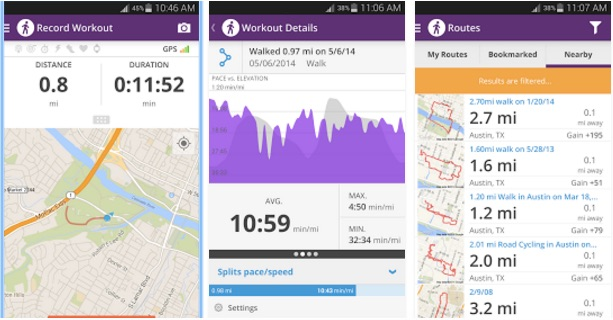 Walk with Map My Walk – Best Pedometer Apps for Android - Free Android Step Counter Appa