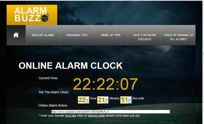 AlarmBuzz - Loud Alarm Clock Online: Top 8 Best Free Online Alarm Clock for Heavy Sleepers