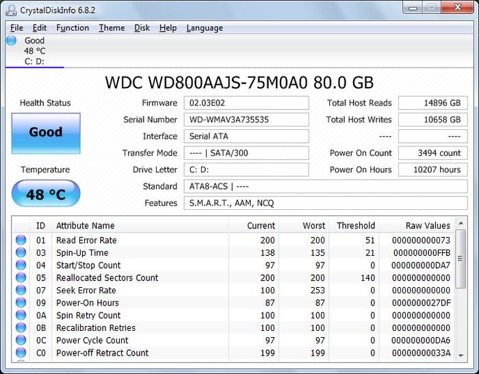 CrystalDiskInfo-Monitor-Hard-Drive-Health - Check Hard Drive Health - Best Hard Drive Health Monitoring Tools to Check Hard Drive Health