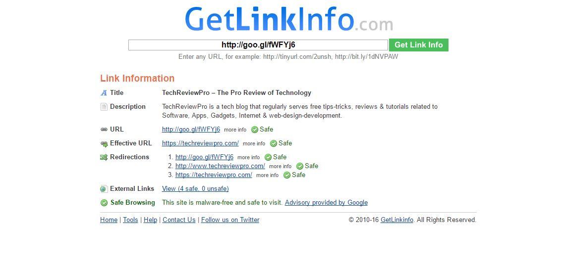 GetLinkInfo.com - Decode URL Online: 6 Best Online URL Decoder to Know Original URL