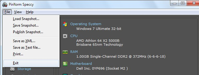 Speccy-Simple-system-information tool-menu - Best Free System Information Utilities to Check System Information - How to Find System Specs on Windows 7
