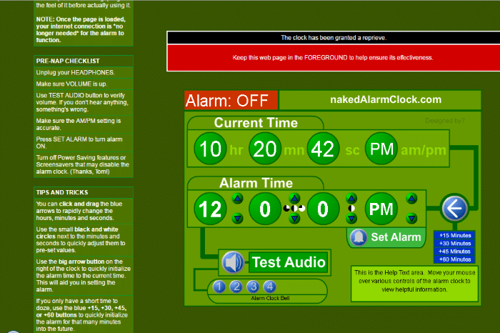Naked Alarm Clock - Loud Alarm Clock Online: Top 8 Best Free Online Alarm Clock for Heavy Sleepers