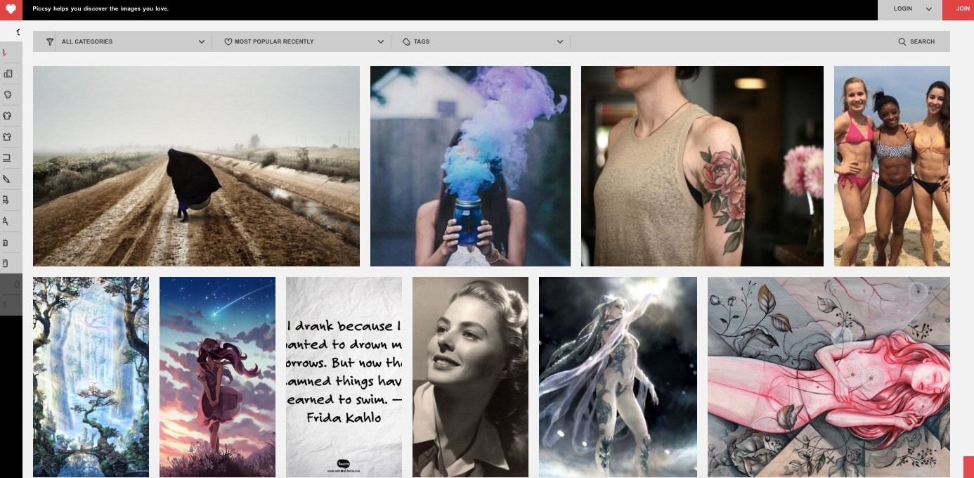 Piccsy - Sites Like Pinterest - Top 8 Websites and Apps Like Pinterest