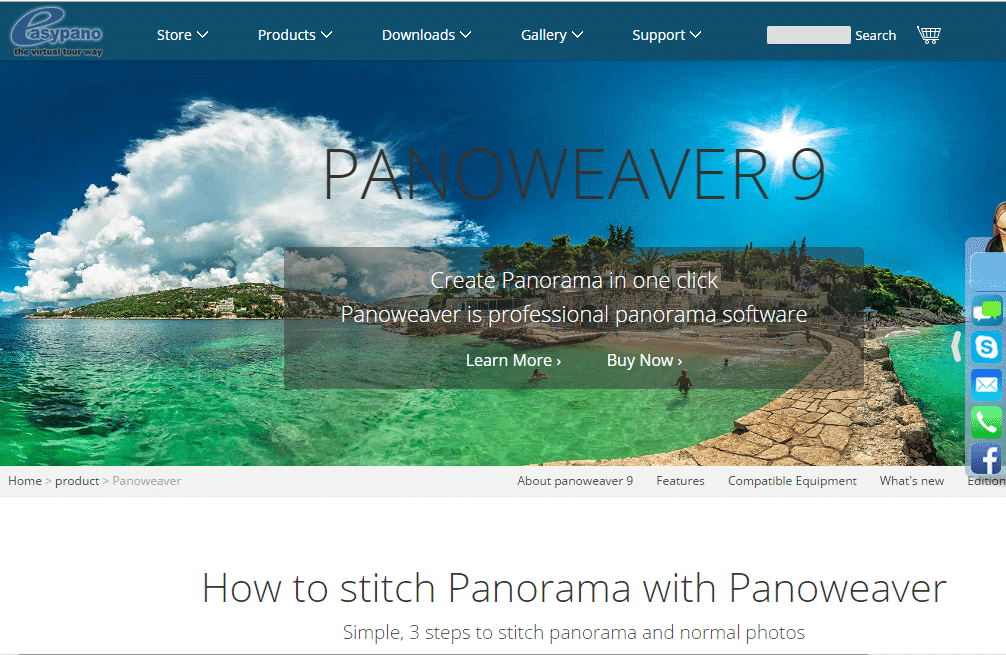 EasyPano Panoweaver - Best Photo Stitching Software - Photo Stitch for Mac and Widows - Panorama Photo maker - Top 10 Best Photo Stitching Software for Panorama Photography