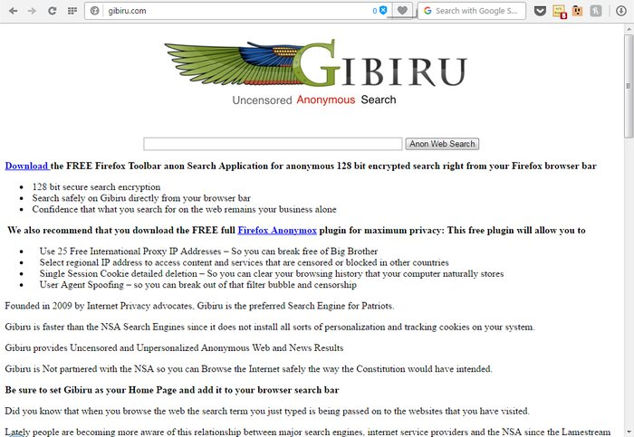 Gibiru - Google Alternatives: Top 10 Best Search Engines Other than Google