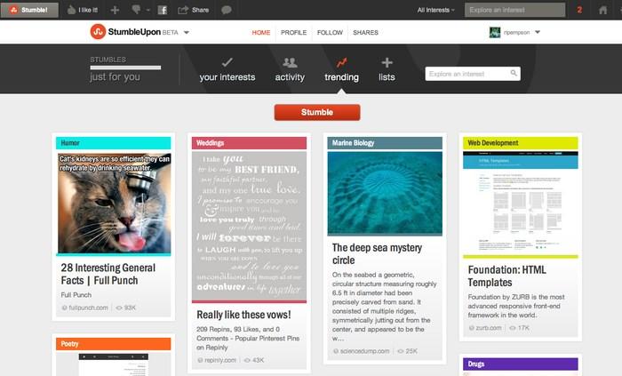 StumbleUpon - Sites Like Reddit - Websites Like Reddit - Reddit Alternatives - Sites Similar to Reddit