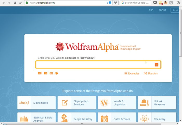 Wolframalpha - Google Alternatives: Top 10 Best Search Engines Other than Google