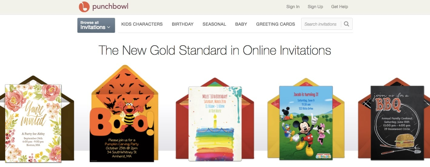 Punchbowl - Evite Alternatives Free Online Invitations and Free Digital Greeting Cards