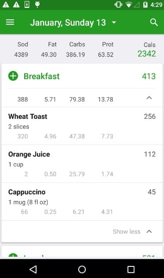 fat secret - calorie counter apps for Android - Top 7 Best Calorie Counter Apps for Android to Count Calories Everyday