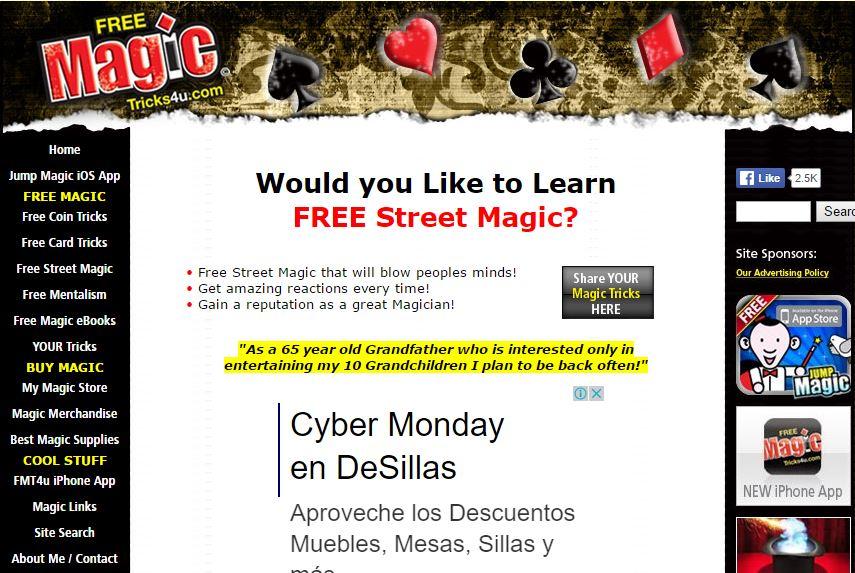 Free Magic Tricks 4 U - Free Magic Tricks Sites - Excellent Free Magic Tricks Sites to Learn Secret Magic Tricks & Hacks