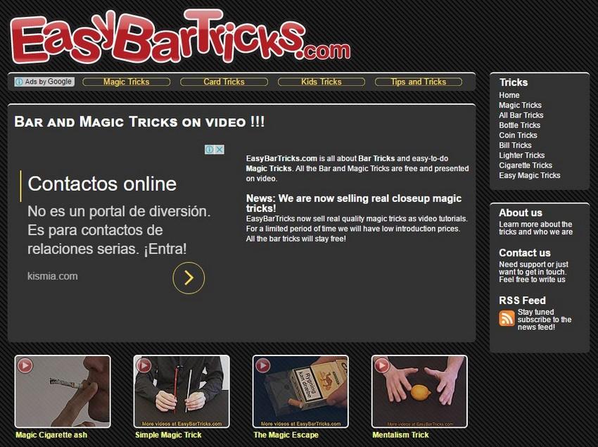 Easy Bar Tricks - Free Magic Tricks Sites - Excellent Free Magic Tricks Sites to Learn Secret Magic Tricks & Hacks