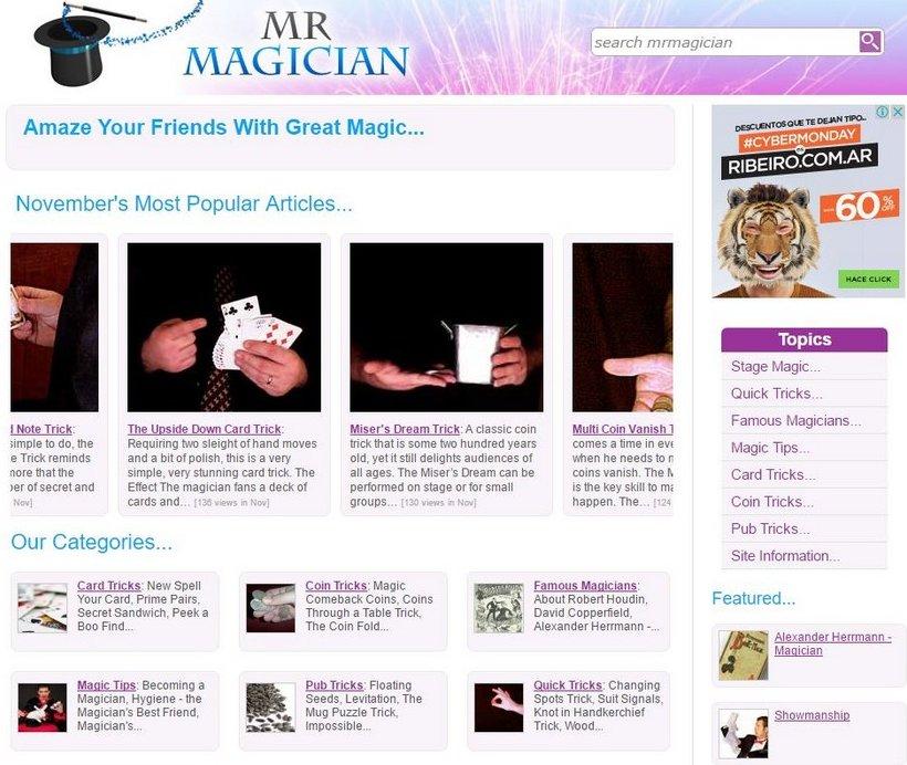 Mr. Magician - Best Free Magic Tricks Sites - Excellent Free Magic Tricks Sites to Learn Secret Magic Tricks & Hacks