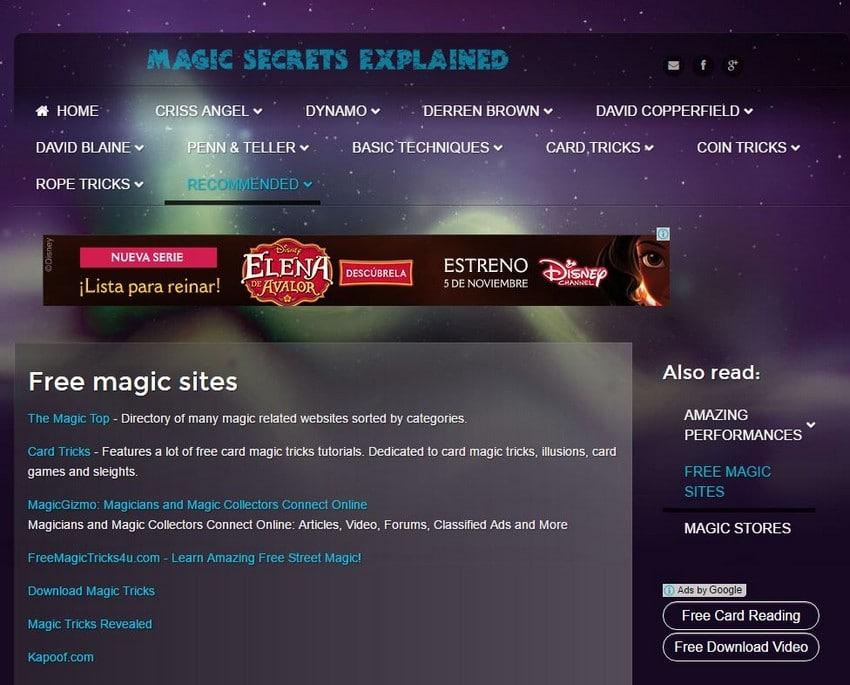 Magic Tricks Explained - Best Free Magic Trick Sites - Excellent Free Magic Tricks Sites to Learn Secret Magic Tricks & Hacks