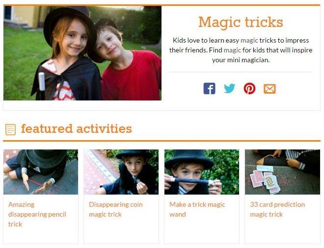 Kid Spot Magic - Best Magic Trick Sites - Excellent Free Magic Tricks Sites to Learn Secret Magic Tricks & Hacks
