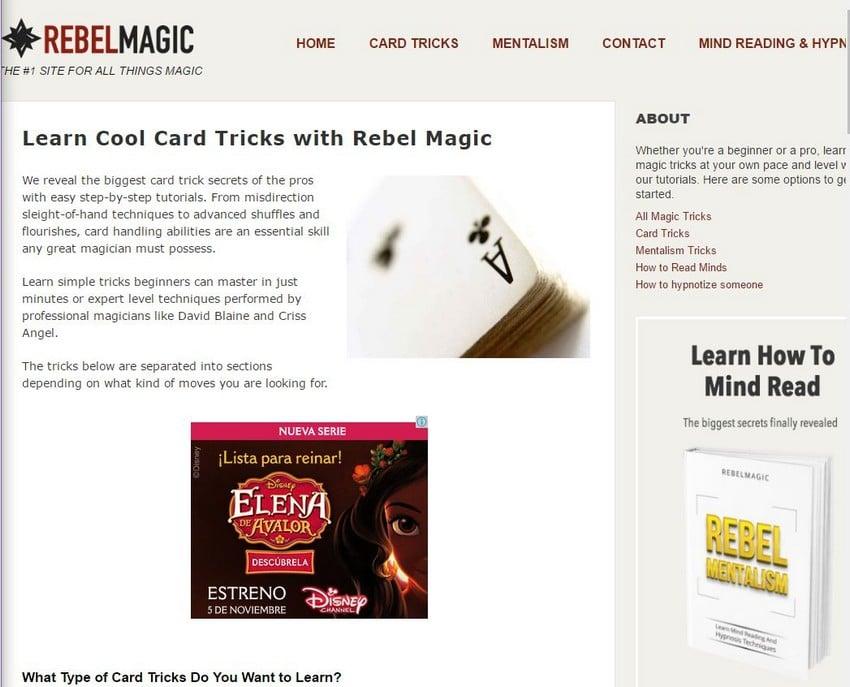 Rebel Magic - Best Magic Trick Sites - Excellent Free Magic Tricks Sites to Learn Secret Magic Tricks & Hacks