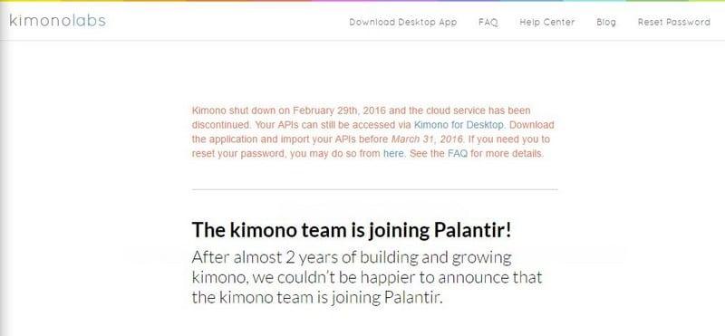 Kimono Labs Yahoo Pipes Alternative - What is Yahoo Pipes? How did it Work? - Top 8 Best Yahoo Pipes Alternatives