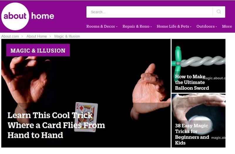 About Magic - Best Magic Trick Sites - Excellent Free Magic Tricks Sites to Learn Secret Magic Tricks & Hacks