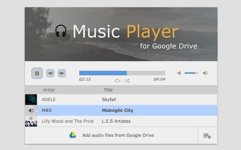 music-player-for-google-drive - Best Chrome Extensions – Ultimate List of Best Extensions for Chrome Users