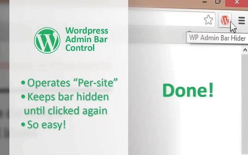 wordpress-admin-bar-control - Best Chrome Extensions - Best Chrome Extensions for WordPress Users