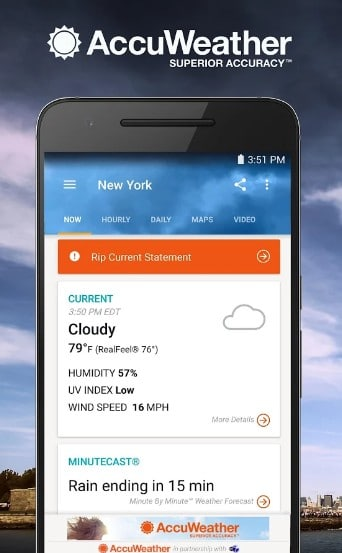 accuweather - best weather widgets for Android - Best Android Weather Apps - Best Weather Widgets for Android